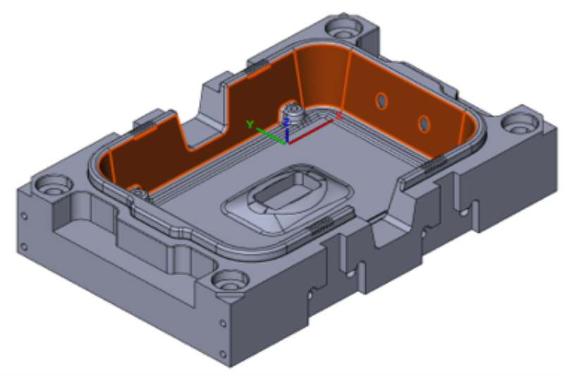 3D model of a workpiece from the die and mould making.